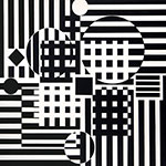 Victor Vasarely, Encelade Fine Art Reproduction Oil Painting