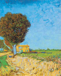 Vincent Van Gogh, A Lane Near Arles (Thick Impasto Paint) Fine Art Reproduction Oil Painting