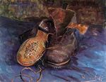 Vincent Van Gogh, A Pair of Boots Fine Art Reproduction Oil Painting