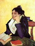 Vincent Van Gogh, L'Arlesienne Madame Ginoux with Books Fine Art Reproduction Oil Painting