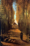 Vincent Van Gogh, Avenue of Poplars in Autumn Fine Art Reproduction Oil Painting