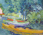 Vincent Van Gogh, Bank of the Oise at Auvers (Thick Impasto Paint) Fine Art Reproduction Oil Painting