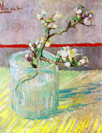 Vincent Van Gogh, Blossoming Almond Branch in a Glass Fine Art Reproduction Oil Painting