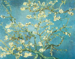 Vincent Van Gogh, Branches of an Almond Tree in Blossom Fine Art Reproduction Oil Painting
