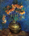 Vincent Van Gogh, Fritillaries in a Copper Vase -Thick Impasto Paint Fine Art Reproduction Oil Painting