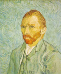 Vincent Van Gogh, Self-Portrait (Thick Impasto Paint) Fine Art Reproduction Oil Painting