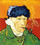 Vincent Van Gogh, Self-Portrait with Bandaged Ear (Impasto Paint) Fine Art Reproduction Oil Painting