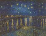 Vincent Van Gogh, Starry Sky over the Rhone Fine Art Reproduction Oil Painting