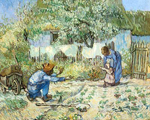 Vincent Van Gogh, The First Steps -Thick Impasto Paint Fine Art Reproduction Oil Painting