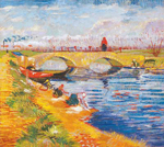 Vincent Van Gogh, The Gleize Bridge (Thick Impasto Paint) Fine Art Reproduction Oil Painting