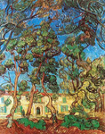 Vincent Van Gogh, The Grounds of the Asylum (Thick Impasto Paint) Fine Art Reproduction Oil Painting