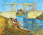 Vincent Van Gogh, The Langlois Bridge (Thick Impasto Paint) Fine Art Reproduction Oil Painting