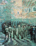Vincent Van Gogh, The Prison Exercise Yard Fine Art Reproduction Oil Painting