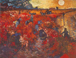 Vincent Van Gogh, The Red Vineyard (Thick Impasto Paint) Fine Art Reproduction Oil Painting