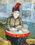 Vincent Van Gogh, Woman in the Cafe Tambourin Fine Art Reproduction Oil Painting