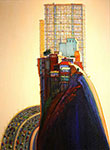 Wayne Thiebaud, Apartment Hill Fine Art Reproduction Oil Painting