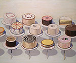 Wayne Thiebaud, Cakes Fine Art Reproduction Oil Painting