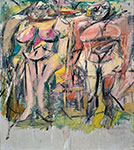 Willem De Kooning, Two Women  Fine Art Reproduction Oil Painting