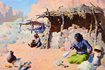 William Robinson Leigh, Navahos at Home  Fine Art Reproduction Oil Painting
