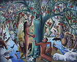 Wilson Bigaud, Adam and Eve  Fine Art Reproduction Oil Painting