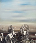 Yves Tanguy, The Hunted Sky Fine Art Reproduction Oil Painting
