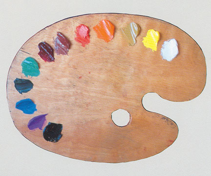 A painter's pallette